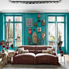 Teal Decorating Ideas For Living Room Earth Colors Rooms Blue Green Painted Inspiration Architectural Digest