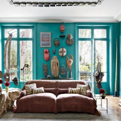 Living Room Ideas With Turquoise Walls Large Canvas Art For Blue Green Painted Inspiration Architectural Digest