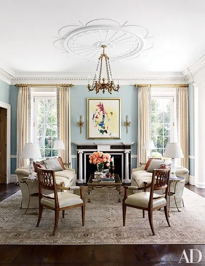 traditional living rooms with oriental rugs pretty curtains room 29 for every space architectural digest a circa1920 tabriz carpet from galerie shabab brightens the of houston home decorated