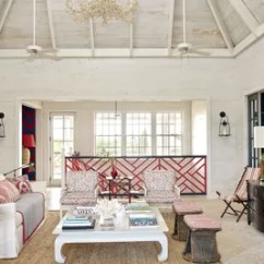Beach House Living Room Designs Peach Color 21 Rooms That Do Inspired Decor Right Architectural At The Bahamas Home Of Decorator Alessandra Branca S Vintage Armchairs Are Cushioned In A Bennison Print And 19th Century Campaign