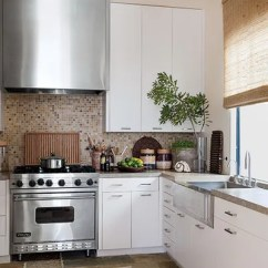 Farm Sinks For Kitchens Kitchen Ceiling Fan 19 Inspiring Farmhouse Sink Ideas Architectural Digest A More Modern Take On The Style Film Producer Avi Arad Selected Steel His Malibu