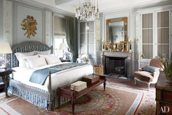 master bedroom chandelier Bedroom Chandelier Inspiration Photos | Architectural Digest