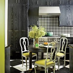 Black And White Tile Kitchen Bronze Hardware Floors That Make A Statement Architectural Digest The Of Acclaimed Adman Peter Rogerss New Orleans Home Is Equipped With Thermador Range