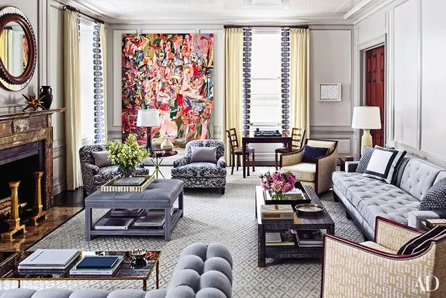 traditional wingback chair lawn usa promo code how to incorporate ottomans into your living room decor photos   architectural digest