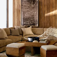 Teak Sofa Table Small Sectional With Chaise Ralph Lauren Home's Desert Modern Collection Photos ...