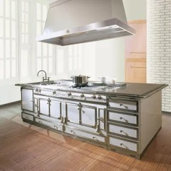 Best Kitchen Islands Costco Play Set The 14 For An Easy Renovation Architectural Ultimate In Luxury La Cornueschteau Island Built Around Iconic Range Of Same