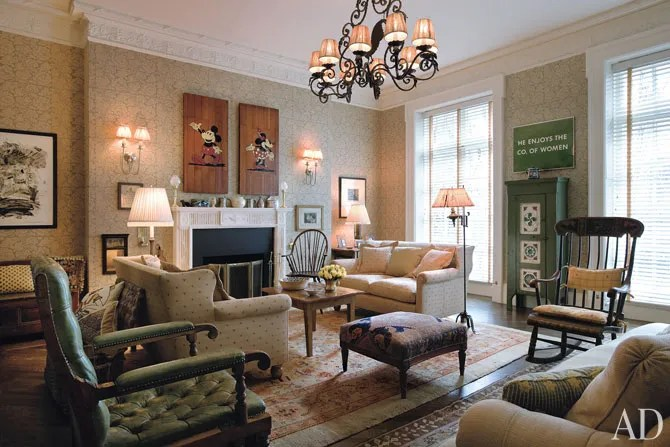 Tour Woody Allens English CountryStyle Manhattan Townhouse  Architectural Digest