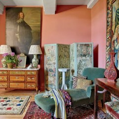 Living Room Chaise Lounge Ideas Wallpaper Design For Longue Decorating Architectural Digest An 18thcentury Screen Stands Next To A Velvetclad 1920s In The Master Bedroom Of