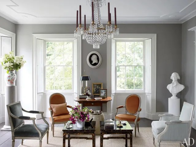 decorating with sage green sofa family bed best gray paint colors and ideas photos   architectural digest