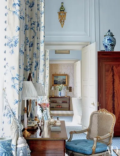 30 Rooms That Showcase BlueandWhite Decor