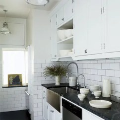 Subway Tile For Kitchen Counter Top 23 Ways To Decorate With Architectural Digest At The Manhattan Apartment Of Accessories Designers Richard Lambertson And John Truex By Nemo Co Lines Which Also Features A