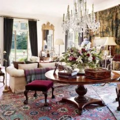 Persian Rug Modern Living Room Purple Decor 29 Oriental Rugs For Every Space Architectural Digest Embellishing One End Of The Ralph Laurens Bedford New York Home Are A