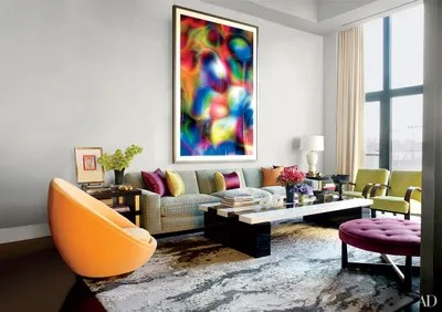 pictures of grey living room walls paint colors for inspiring gray ideas architectural digest thomas ruff s photograph substrat 24 i dominates the designer jamie drake manhattan apartment whose are painted in benjamin moore