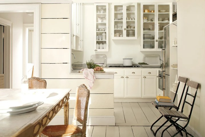Top off white paint colors for kitchen cabinets for Best off white cabinet paint color