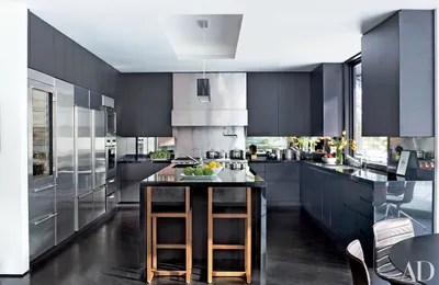 kitchen makeovers slate floor 15 spectacular before and after architectural digest the couple called on stonefox architects to renovate decorate entire home sleek ebonizedoak