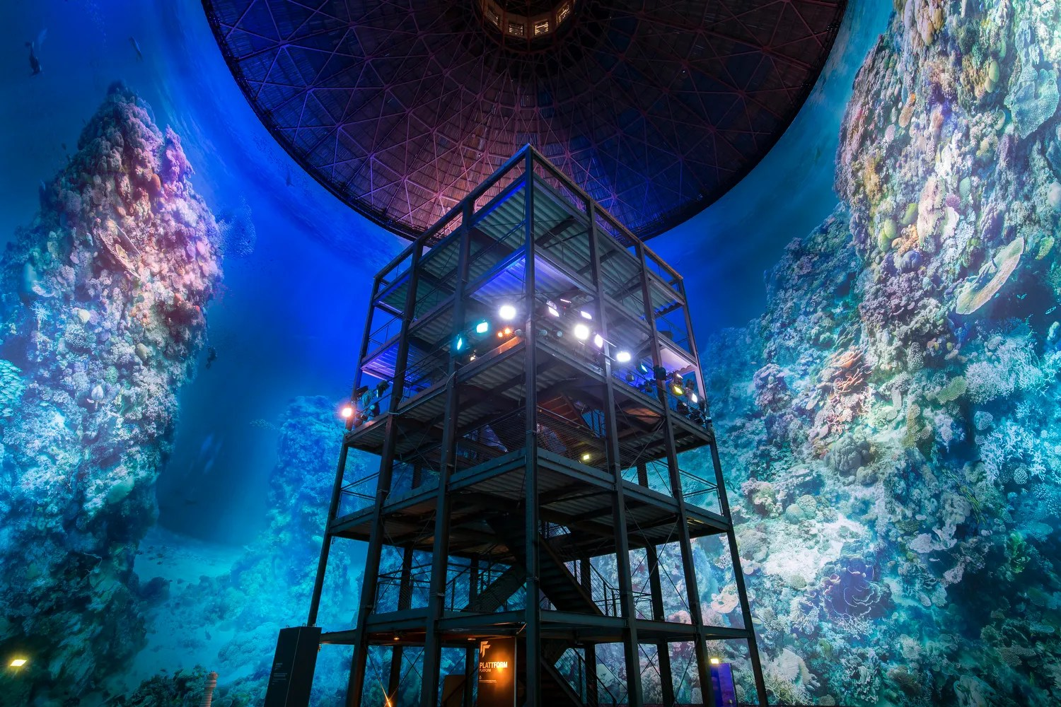 Great Barrier Reef Panometer Leipzig Germany Yadegar Asisi Photos  Architectural Digest