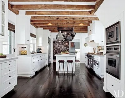 design kitchen lowes appliance bundles white kitchens ideas architectural digest at his home in amagansett new york talent agent sandy gallin warmed up a