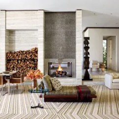 How To Design Living Room With Fireplace And Tv Gold Curtains Ideas Designs Architectural Digest California Home Of Designer Michael S Smith Diplomat James Costos An Expanse Silvered Mica Panels Over The Offsets