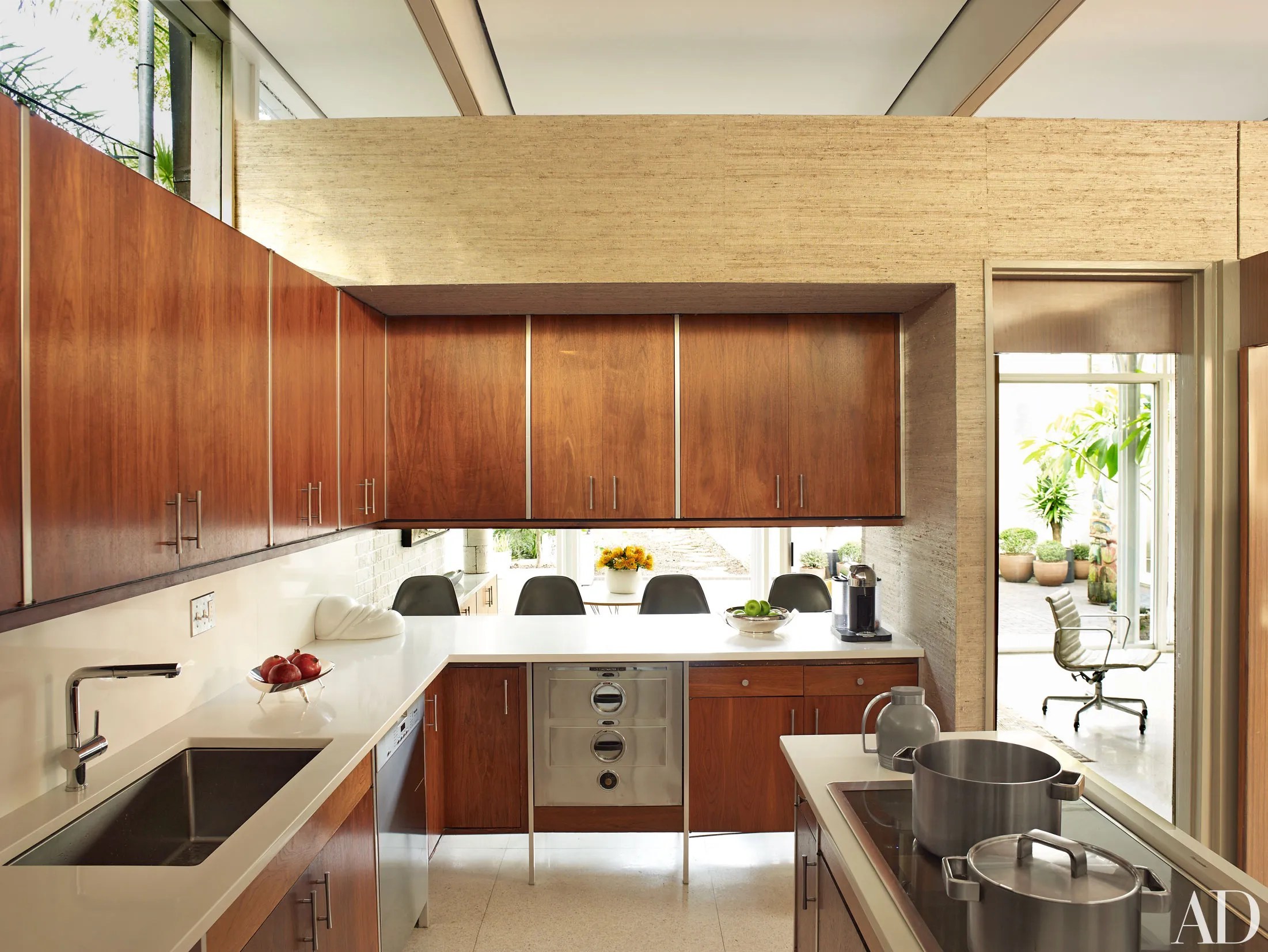 century kitchen cabinets counter height island get the look midcentury modern in new orleans