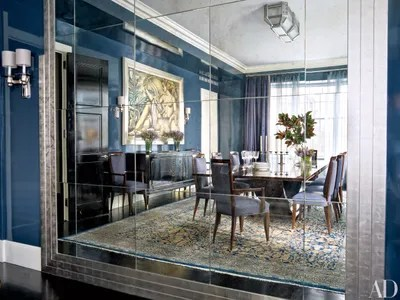 art deco living room pictures the manchester how to add style any architectural digest a pratt lambert blue coats walls of once green dining in new