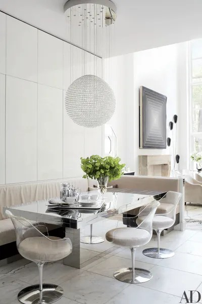 kitchen banquettes soffit lighting 12 stunning banquette ideas to elevate any design in the dining area of a new york townhouse designed by delphine krakoff table paul evans is accompanied pamplemousse