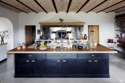 island kitchen ideas cabinets storage 28 stunning architectural digest at the umbrian estate of architect benedikt bolza and his family kitchens massive oaktop