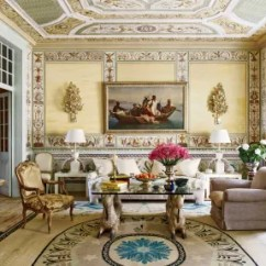 Interior Designing For Living Room Contemporary With Log Burner 31 Ideas From The Homes Of Top Designers Architectural In Pedro Esprito Santos Frescoed Lisbon Portugal Salon An 1860s Orientalist Painting Is Flanked By Foil