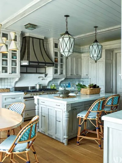 kitchen lights ideas tall table 13 brilliant lighting architectural digest the of a long island home devised by architect robert m stern and decorated