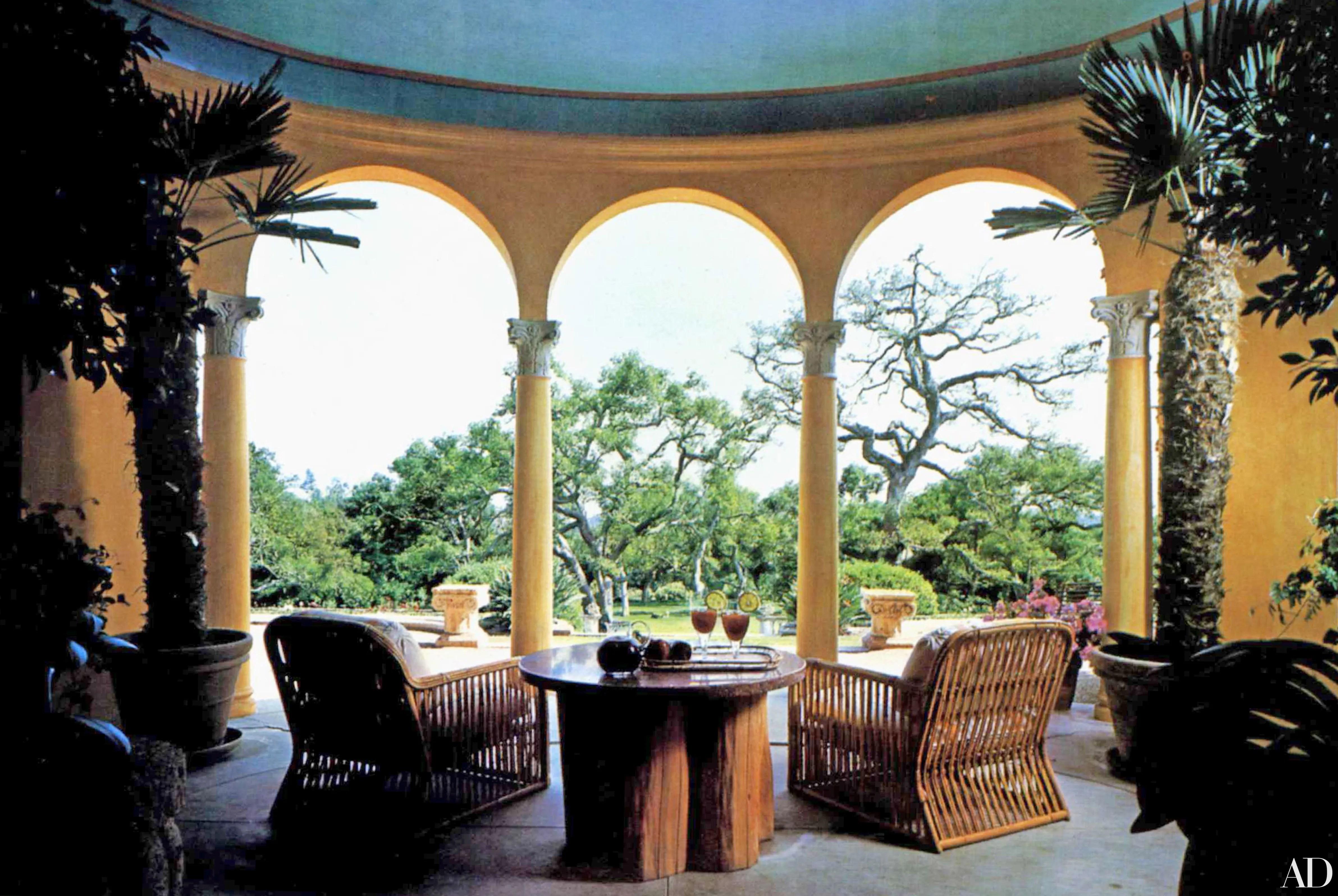 Gene Hackmans Mediterranean Mansion Goes From Formal to