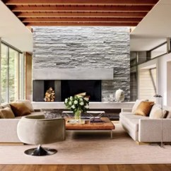 Living Room Contemporary Interiors Modern Tv Shelf For Interior Design 13 Striking And Sleek Rooms A Quartzite Chimney Breast Defines One End Of The Open Plan Dining Kitchen Area In An Aspen Colorado Home Designed By Architecture Firm Bohlin