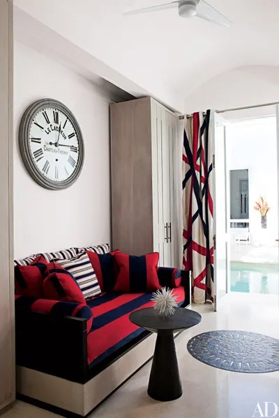 living room clocks next images of decorated rooms unique wall decor ideas 14 ways to use as artwork a guest at designer richard mishaan s colombian retreat features daybed dressed with striped ralph lauren home fabrics and clock by restoration