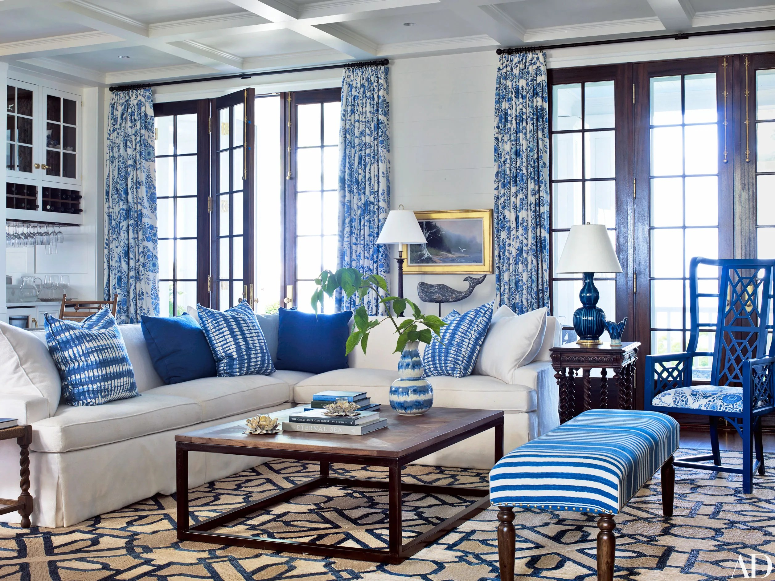 How to Decorate with Blue and White Photos  Architectural