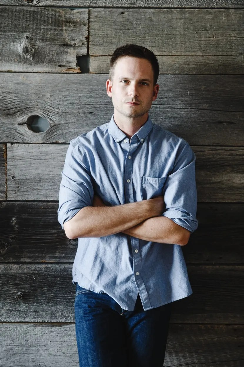 Patrick J Adams on Suits Reclaimed Furniture and His