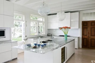 kitchen pendant lights out door kitchens 31 with pretty lighting architectural digest jeff zimmerman designed the transparent bubblelike in of a tranquil waterfront home