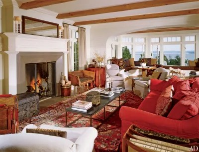 persian rug modern living room benjamin moore ideas 29 oriental rugs for every space architectural digest comfortable sofas and chairs are mixed with european antiques in the great of a lakefront