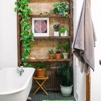 All That Lovely Greenery in the Bathroom