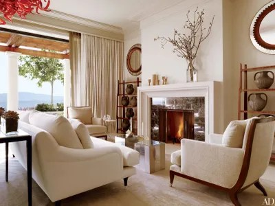 wine country living room elegant rooms decor 15 homes with rustic beauty architectural digest richard beard of b a r architects and designer paul vincent wiseman the group collaborated on hilltop home in napa valley