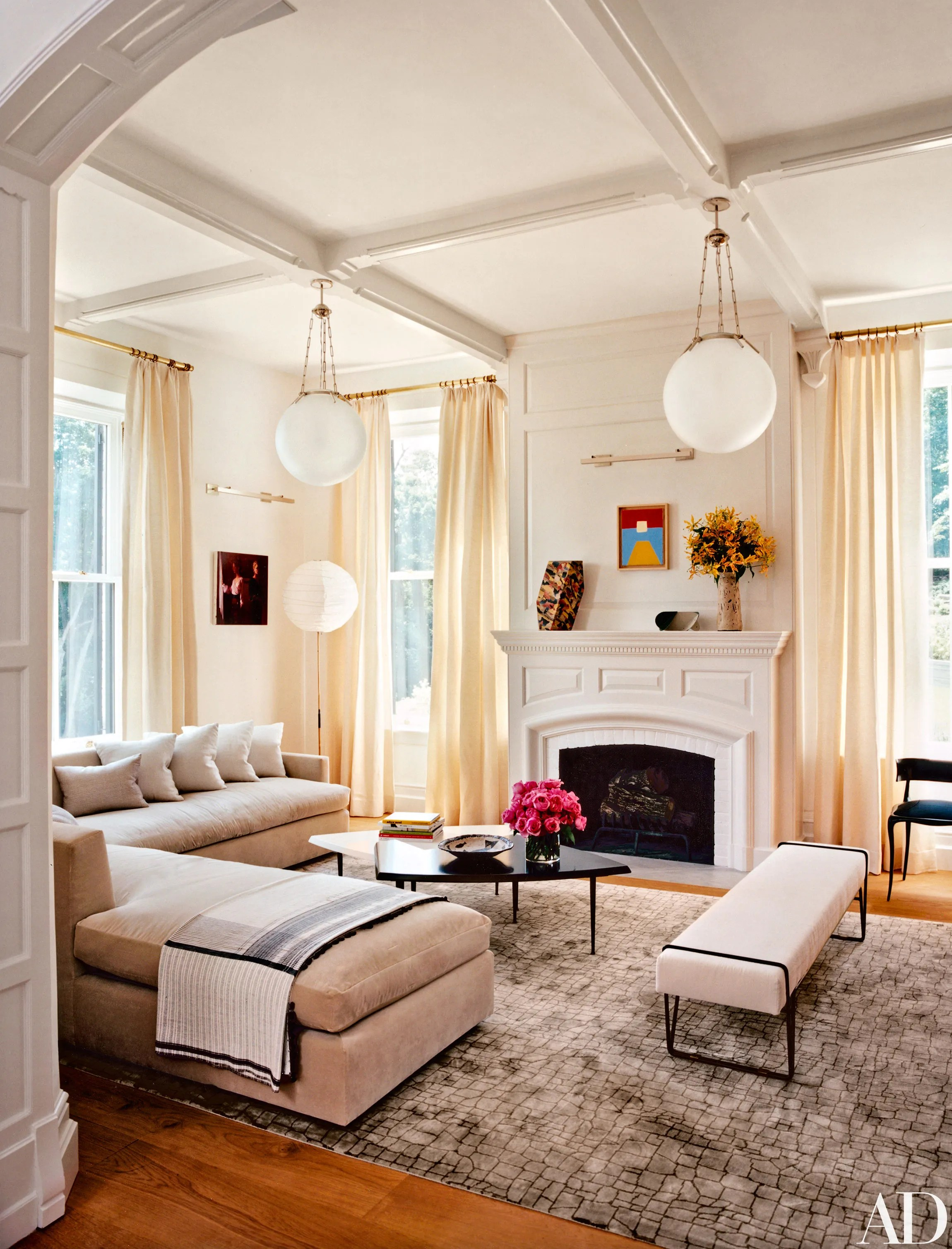 14 Amazing Living Room Makeovers Photos  Architectural Digest