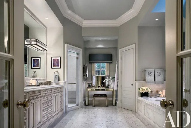 12 Glamorous Gray Bathroom Ideas Photos Architectural Digest