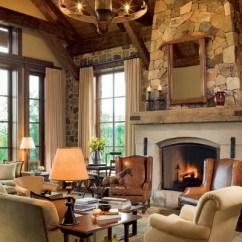 Rustic Living Rooms Houzz Four Chairs Room 13 Utterly Inviting Ideas Architectural Digest Interior Designer Elissa Cullman Used Warm Tones For The Sophisticated But Relaxed In A