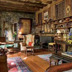 Rustic Living Rooms Room Ideas With Wooden Walls 13 Utterly Inviting Architectural Digest The Asheville North Carolina Of Late Wildlife Artist Sallie Middleton Was Built Using