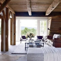 Rustic Living Rooms Best Area Rug For Small Room 13 Utterly Inviting Ideas Architectural Digest In Another View Of Levys French Doors Open To The Terrace Sergio
