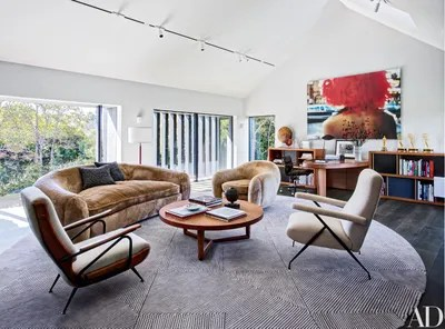 mid century modern living room what color to paint 11 midcentury rooms architectural digest midcenturymodern