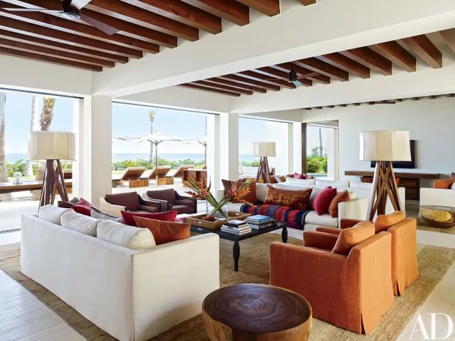 baja beach chairs ikea chair slipcovers tour cindy crawford and rande gerber george clooney's houses in mexico photos ...