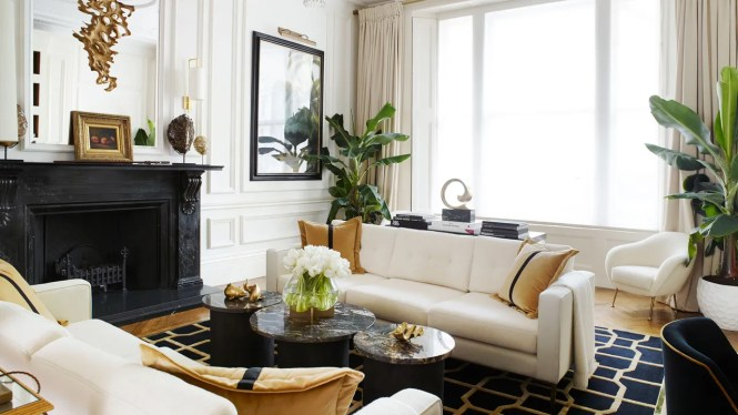 A Classic London Townhouse Apartment Gets Glamorous Art Decoinspired Makeover
