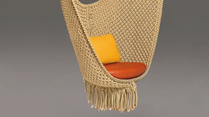 swing chair patricia urquiola zero g relax the back louis vuitton s objets nomades collection to make its west coast a designed by spanishborn architect and designer