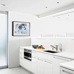 White Kitchen Cabinets Glass Backsplash Ideas And Inspiration Architectural Digest In Collector Chara Schreyer S Gallerylike Los Angeles Home Decorated By Gary Hutton Design The Features