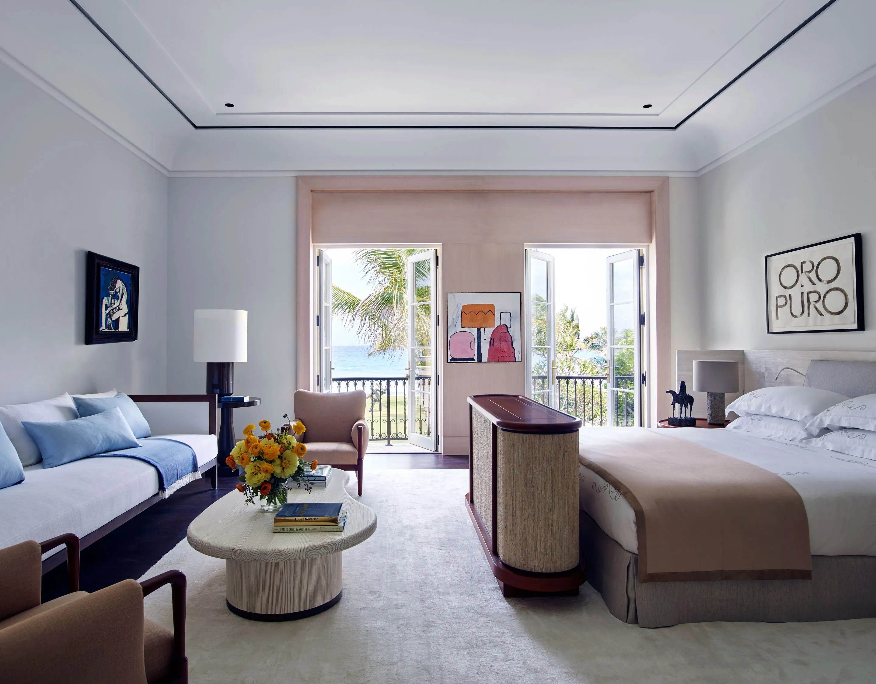 A Sweeping Palm Beach Home with Oceanfront Views and a