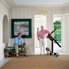 Steel Chair Bush Kohls Zero Gravity See How Tv Producer Douglas S. Cramer Decorated His Art-filled Villa In Miami Beach Photos ...