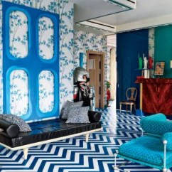 Blue Walls Living Room Furniture Sets China 30 Rooms That Showcase And White Decor Architectural Digest In The Of Entrepreneur Designer Lapo Elkann S Milan Apartment Which Was Renovated